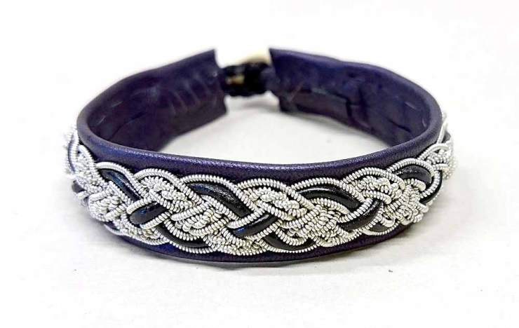 Bracelet-200-Dark-Purple--Black-Leatherband