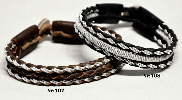 Bracelet-#107-Dark Brown--108-Black